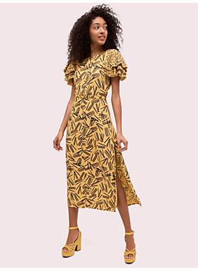マッチ クレープ シース ドレス
