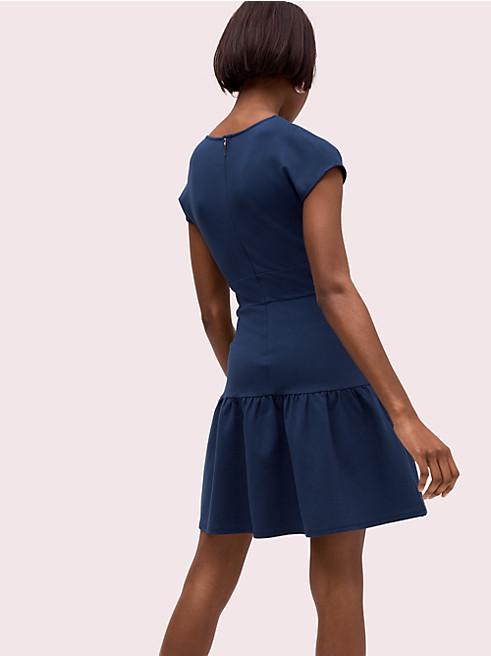 ポンテ フラウンス ドレス