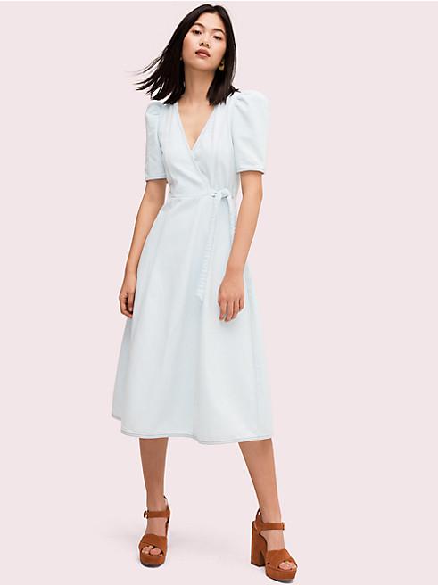 デニム ラップ ドレス
