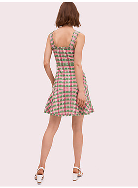 プレイド ツイード スリーブレス ドレス