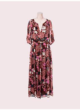 ガーデン ポージー シルク ドレス