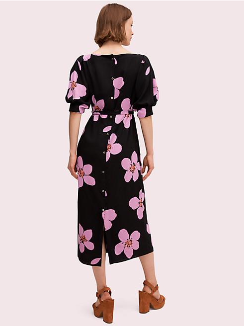 グランド フローラ ボタン バック ドレス