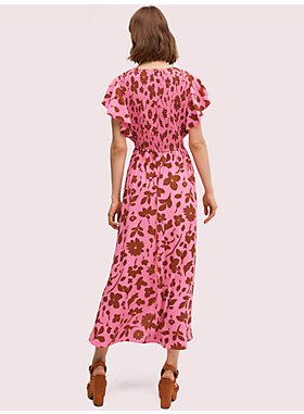 スプラッシュ フラッター スリーブ ドレス