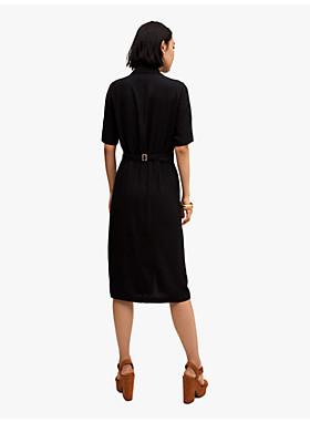 ボタン フロント シャツドレス