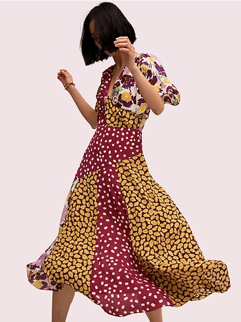 スウィング フローラ ミックス ドレス
