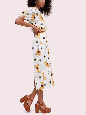 フローラ ガーデン アップリケ スカート