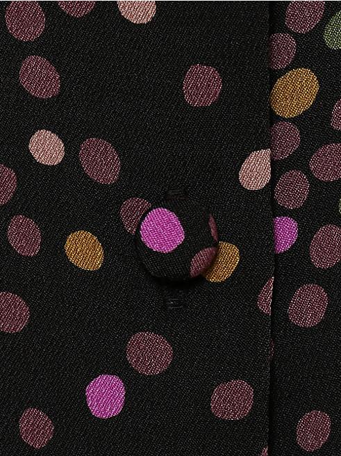 ディスコ ドット ラッフル シャツドレス