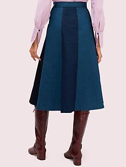 カラーブロック デニム スカート