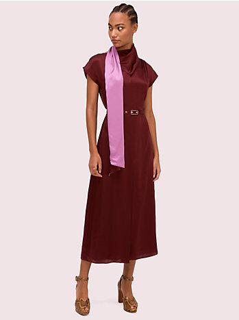 シルク ラップ ネック ドレス