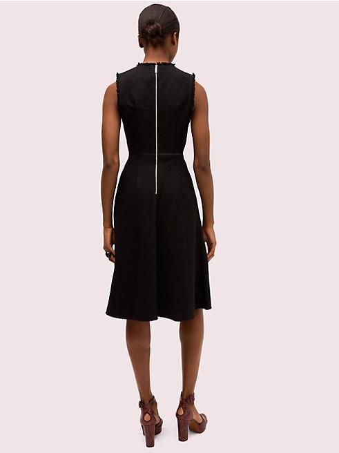 スリーブレス ツイード ドレス