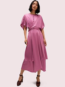 タイ フロント サテン ドレス