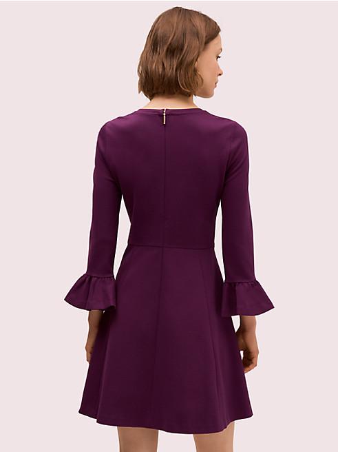 ベル スリーブ ポンチ ドレス