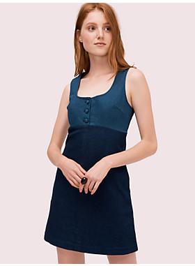 デニム ピナフォア ドレス