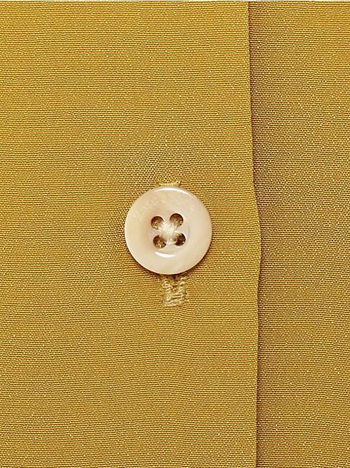 シルク ポイント カラー シャツドレス