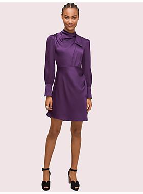 ドレープ ネック ドレス