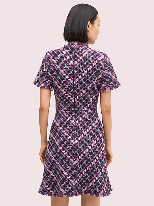 プレイド ツイード ドレス