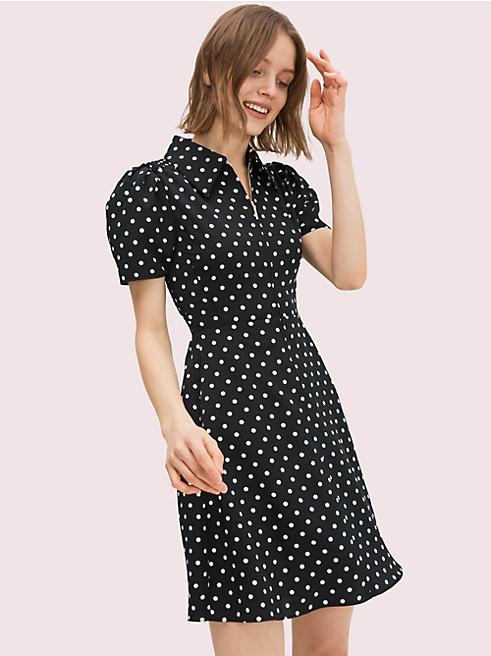 カバナドットスモックドドレス