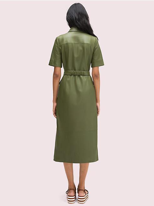 ベルト レザー シャツドレス