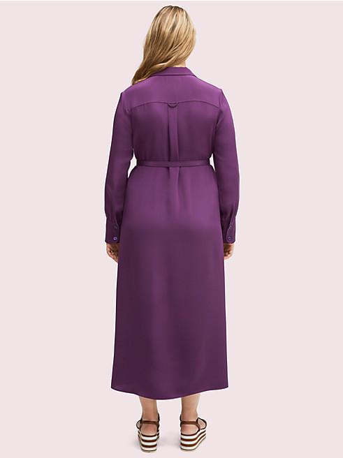 シルク ポケット シャツドレス