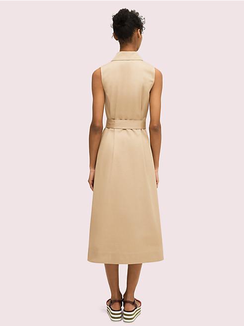 トレンチ シャツドレス