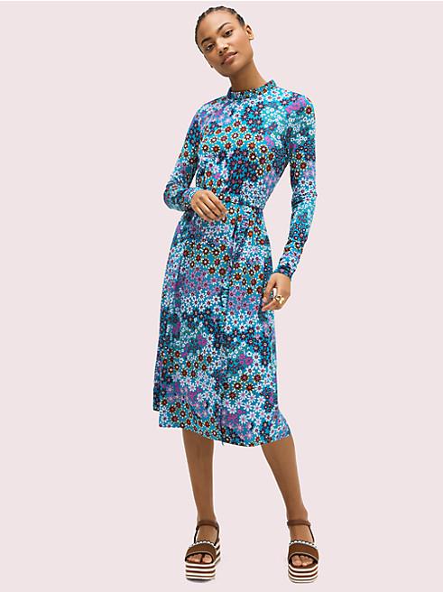 パシフィック ペタル ニット ドレス