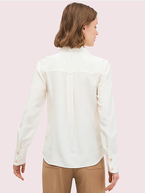 シルク ポケット シャツ