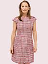 テクスチャー ツイード ドレス