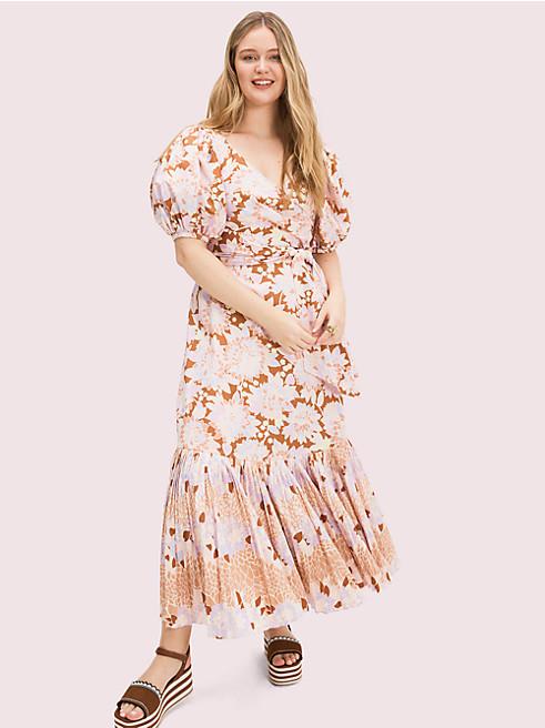 エキゾティック ブルーム ポプリン ドレス