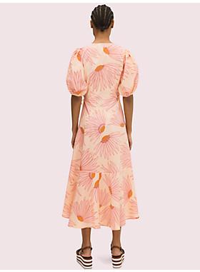 フォーリング フラワー ラップ ドレス