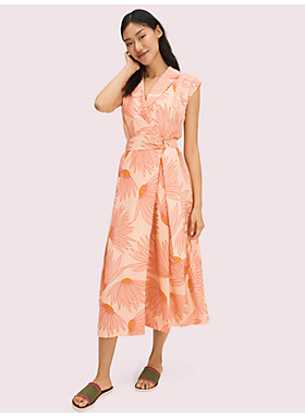 フォーリング フラワー ジャカード ドレス