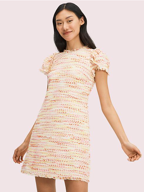 マルチ ツイード シフト ドレス