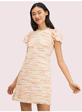 マルチ ツイード ドレス