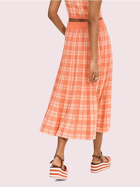 プラッドニットスカート