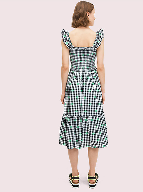ギンガム ボイル スモック ドレス