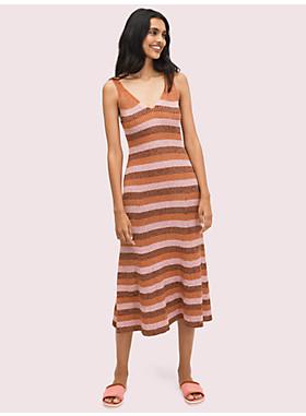 スパークル ストライプ セーター ドレス