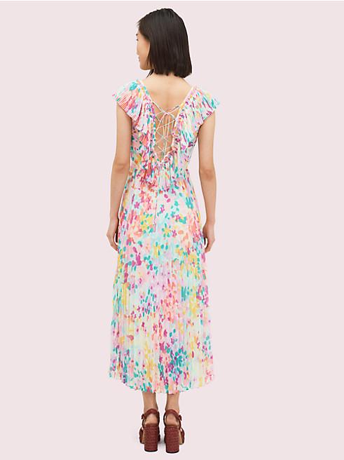 コレクション ペインテッド ペタル プリーツ ドレス