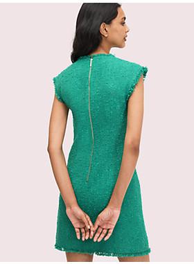 シークイン ツイード シフト ドレス