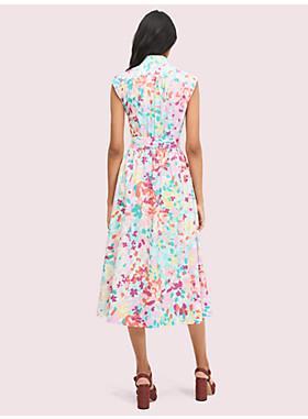 ペインテッド ペタル シャツドレス