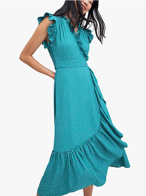 プールサイド ドット ラップ ドレス