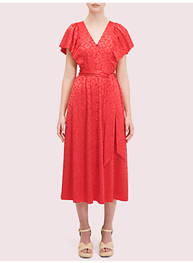 ポピー フィールド ジャカード ドレス