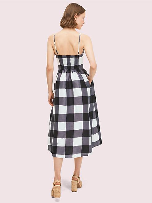 ギンガム タイ フロント ドレス
