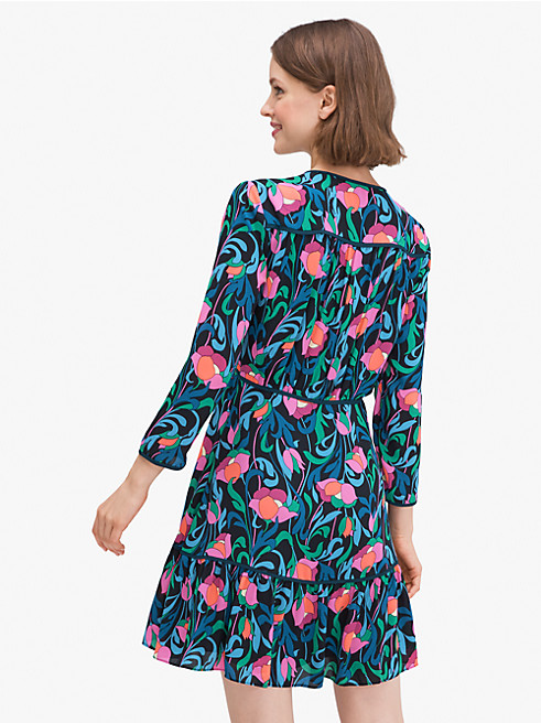 フローラル スワール ドレス