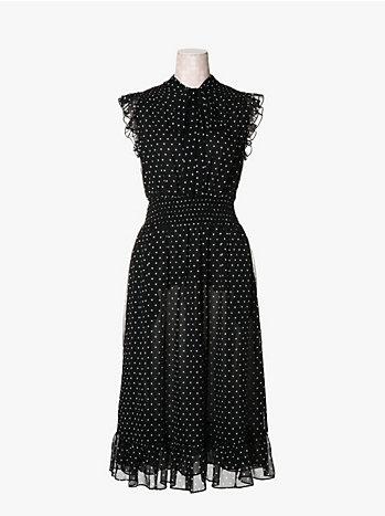 レキシントン ドット スモック ドレス