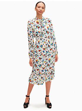 セーリング フローラル スモックド ドレス