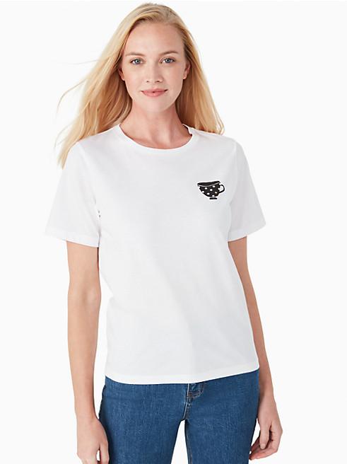 カジュアル ティーカップ Tシャツ
