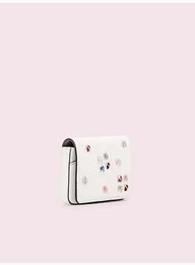 マルゴー エナメル スペード フラップ カード ケース