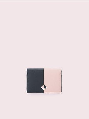 ニコラ バイカラー バイフォールド カードケース