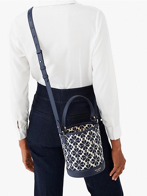 ピクニック スペード フラワー ジャカード スモール バケット バッグ