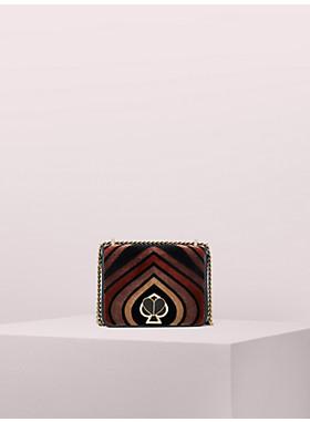 アメリア フロック ベルベット ツイストロック スモール コンバーチブル チェーン ショルダー バッグ