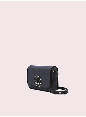 【日本限定】ニコラ デニム ツイストロック ミディアム ショルダー バッグ